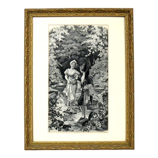 Late 19th Century French Silk Tapestry For Sale