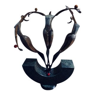 Bronze Sculpture by James LaCasse For Sale