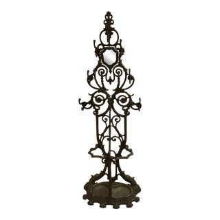19th Century Antique Victorian Cast Iron Hall Stand