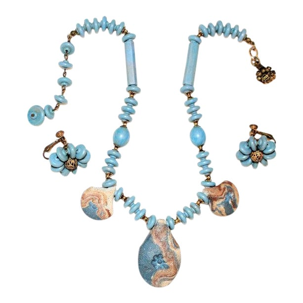 Miriam Haskell Necklace & Earring Set For Sale