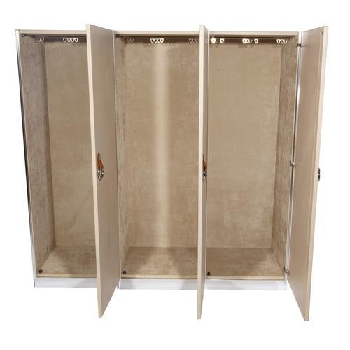 Aluminum 1970S VINTAGE GUIDO FALESCHINI FOR I4 MARIANI WARDROBE CABINETS- SET OF 3 For Sale - Image 7 of 10