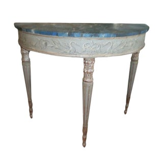 19th Century Antique Italian Neoclassical Style Console Table For Sale