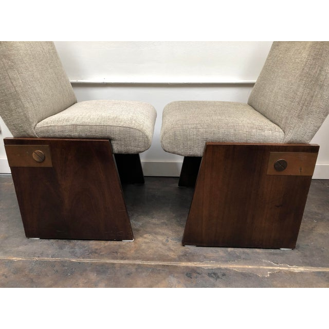 Mid-Century Modern Lane Brutalist Side Chairs- A Pair For Sale In Oklahoma City - Image 6 of 12