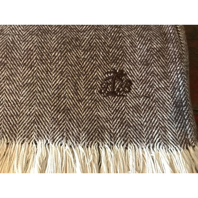 Brown & Ivory Woven Cotton Throw - Image 5 of 10