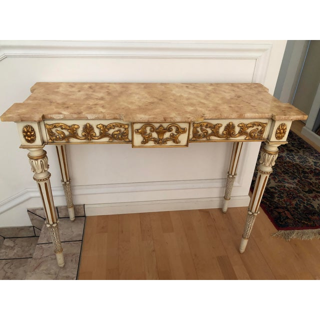 Louis XVI 20th Century Vintage Karges Louis XVI Style Console Entry Table For Sale - Image 3 of 12