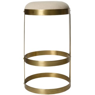 Dior Bar Stool, Antique Brass For Sale