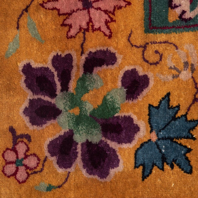 Magenta Chinese Deco Carpet For Sale In Chicago - Image 6 of 11