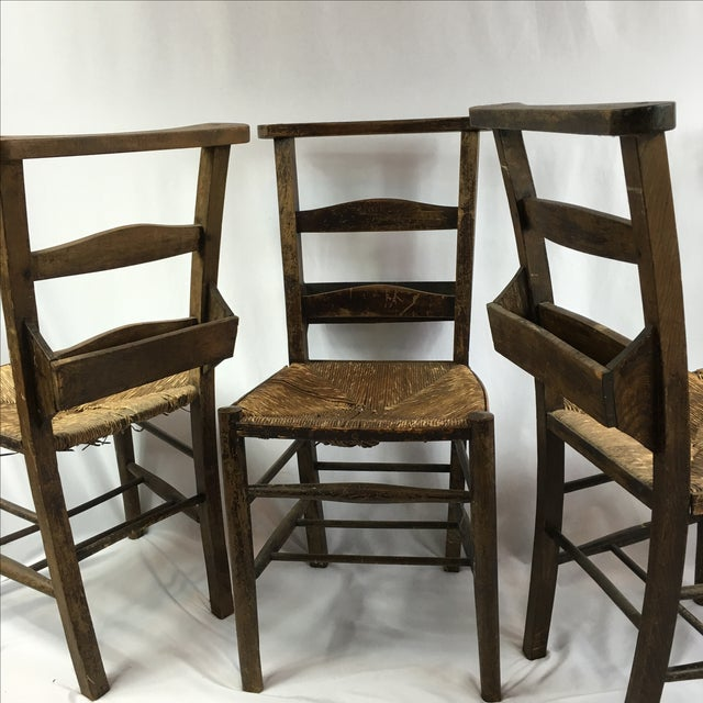 Antique Primitive Shaker Church Chairs - Set of 4 For Sale - Image 10 of 11 - Antique Primitive Shaker Church Chairs - Set Of 4 Chairish