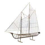 Image of 1970s Mid-Century Modern Curtis Jere Chrome Sailboat Table Sculpture For Sale