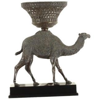 Pasargad N Y Bronze Camel Sculpture Statue For Sale