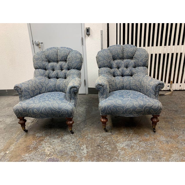 Ethan Allen Redgrave Tufted Arm Chairs - a Pair For Sale - Image 10 of 10