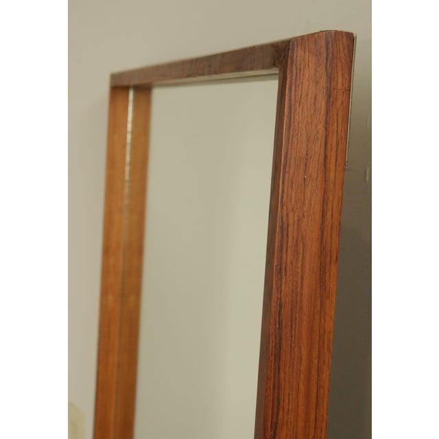 1960s Danish Modern Mid Century Rosewood Rectangular Wall Mirror For Sale - Image 5 of 13