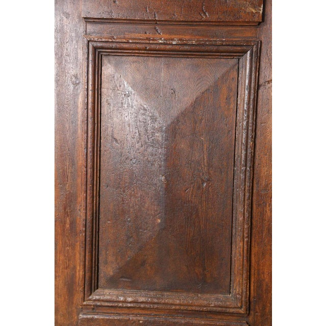 Set of French Painted Double Entry Door With Iron Insert For Sale - Image 9 of 11