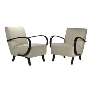 1930s Lounge Chairs by Jindrich Halabala for Up Zavody Brno For Sale