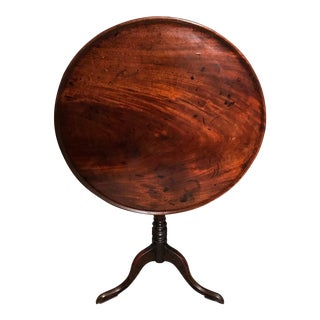18th Century George III Mahogany Tilt Top Tea Table For Sale