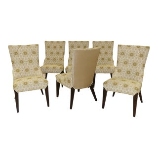 Transitional Directional Dining Side Chairs Designed by Larry Laslo - Set of 6 For Sale