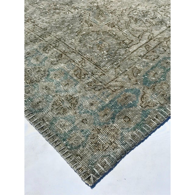 1920s Antique Turkish Distressed Rug- 6′1″ × 10′6″ For Sale In Los Angeles - Image 6 of 12