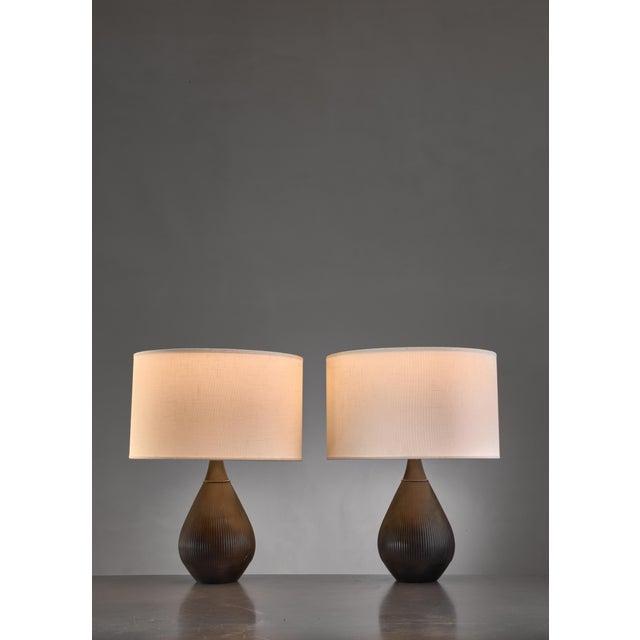 Just Andersen Just Andersen Pair of Metal Table Lamps, Denmark, 1930s For Sale - Image 4 of 4