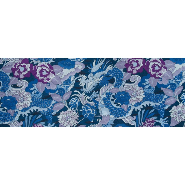 Textile Modern Robert Allen Custom Bench For Sale - Image 7 of 8