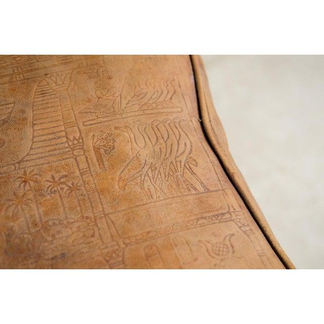 Vintage Egyptian Camel Saddle Stool For Sale - Image 9 of 13