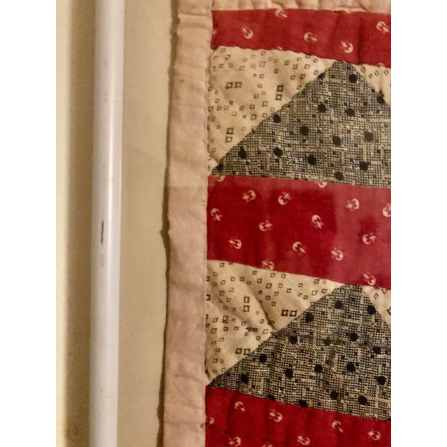 Early 20th Century Framed Doll Quilt For Sale - Image 9 of 13