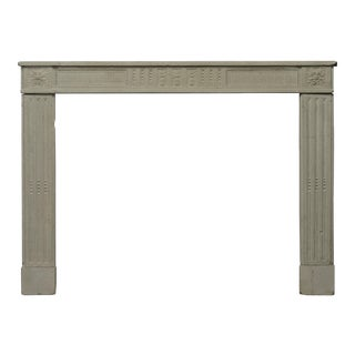 Antique French Limestone Louis XVI Fireplace Mantel For Sale