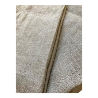Restoration Hardware Textured Linen Rod-Pocket Drapery Sand Panels - A Pair For Sale