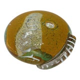 Image of Vintage 1960's Large Seguso Viro Art Glass Paperweight - Signed For Sale