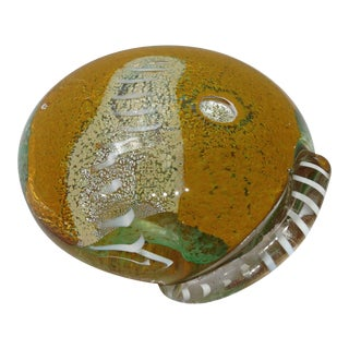 Vintage 1960's Large Seguso Viro Art Glass Paperweight - Signed For Sale