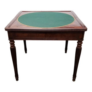 Early 20th Century English Regency Style Mahogany Flip Top Games Table For Sale