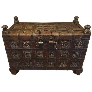 18th Century Antique Ottoman Blanket Chest For Sale