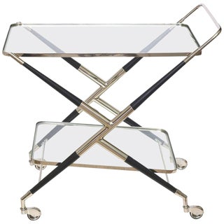 Italian Cesare Lacca Midcentury Bar Cart or Trolley For Sale