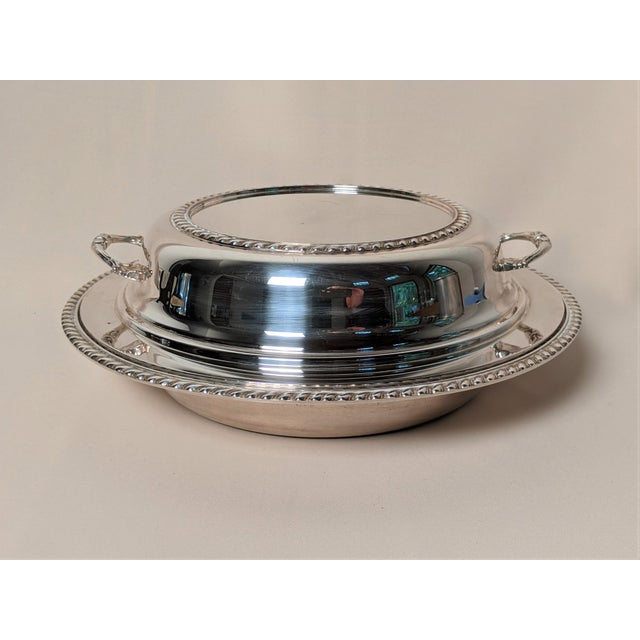 Epc 1940s Silver Plate Serving Dish For Sale - Image 13 of 13