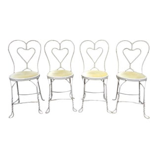 Vintage Ice Cream Parlor Chairs ~ Set of 4 For Sale