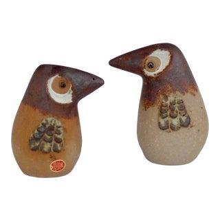 1960s Stoneware DoDo Bird Salt & Pepper Shaker Set, Japan For Sale