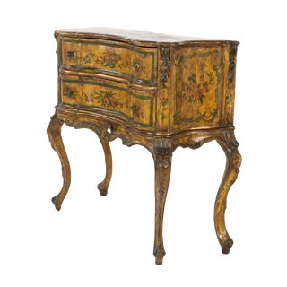 Venetian Painted Serpentine Form Commode, Italy, Circa 1800. For Sale