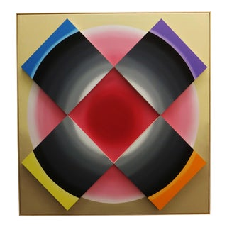 Abstract Contemporary Color Block Painting For Sale