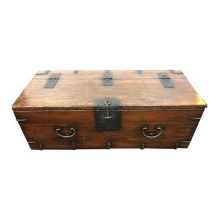 19th Century Chinese Primitive Trunk For Sale
