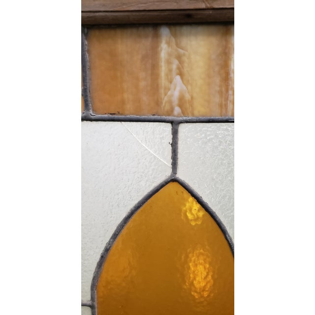 Wood Large Late 19th Century Stained Glass Window Panel C.1880 For Sale - Image 7 of 12