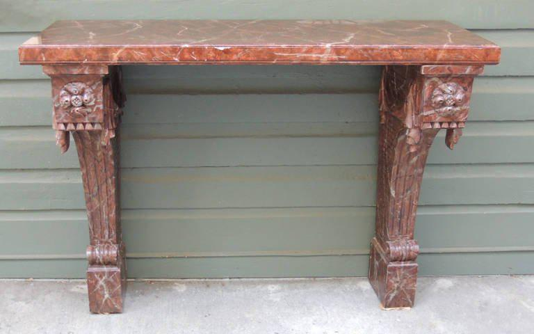 Pair Of 20th C Italian Baroque Faux Marble Console Tables   Image 2 Of 8