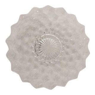Vintage Clear Glass Cake Plate /Platter