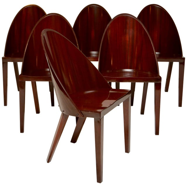 Brown Philippe Starck Royalton Dining Chairs For Sale - Image 8 of 8