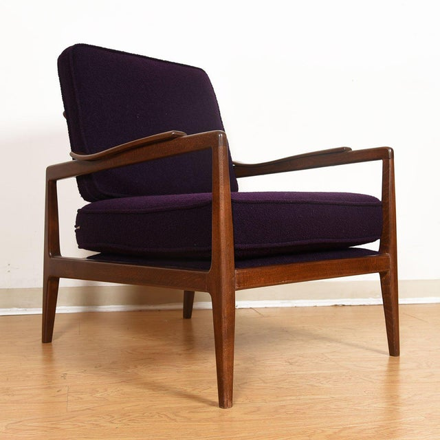 Wood Edmond Spence Mid-Century Modern Walnut Club Chairs - a Pair For Sale - Image 7 of 13