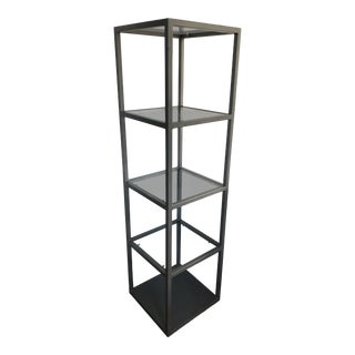 Gray Metal & Glass Étagère For Sale