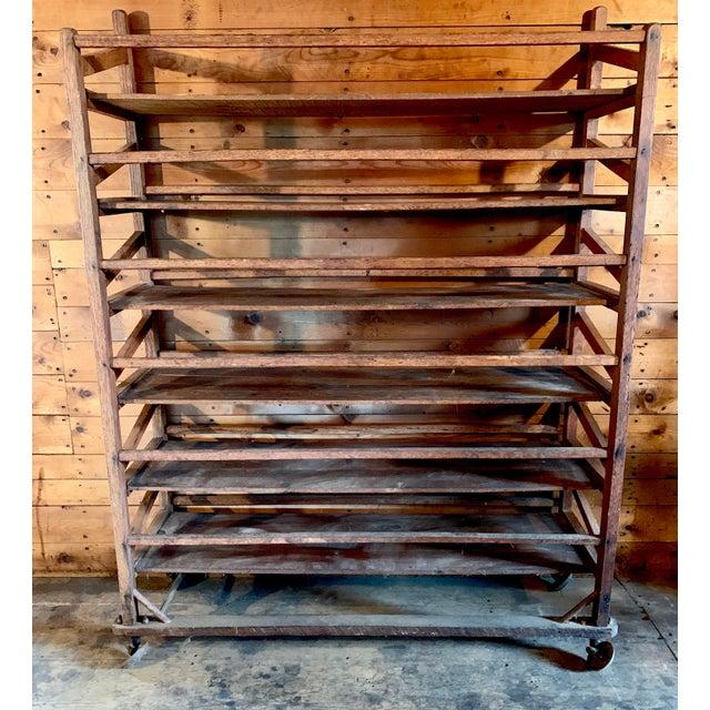 Vintage Wood Bakery Bread Rack For Sale - Image 11 of 11