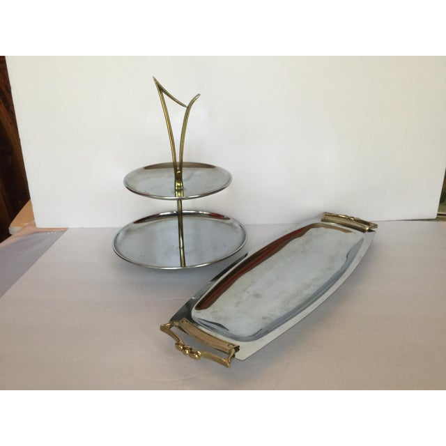 1960s Space Age Brass Serving Trays - Set of 2 For Sale - Image 13 of 13
