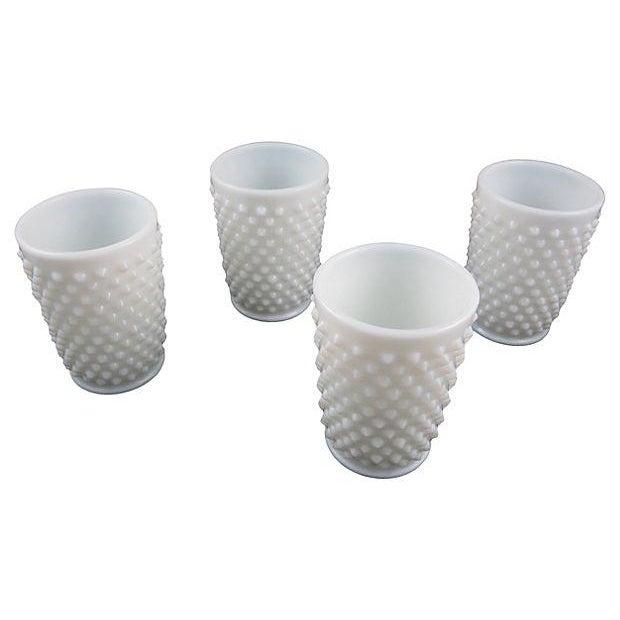 Fenton Hobnail Milk Glass Beverage Service - 5 - Image 5 of 6