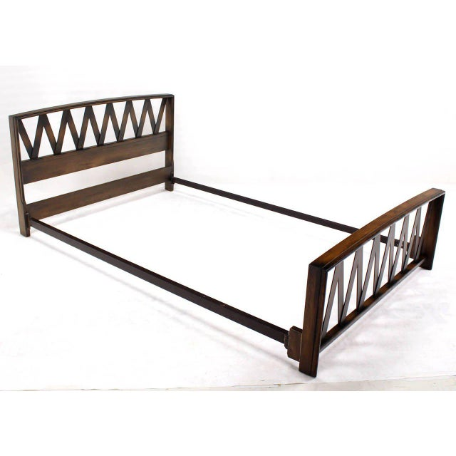 Paul Frankl Lattice Full Bed Frame For Sale In New York - Image 6 of 9