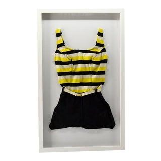 Vintage Bathing Suit Framed For Sale