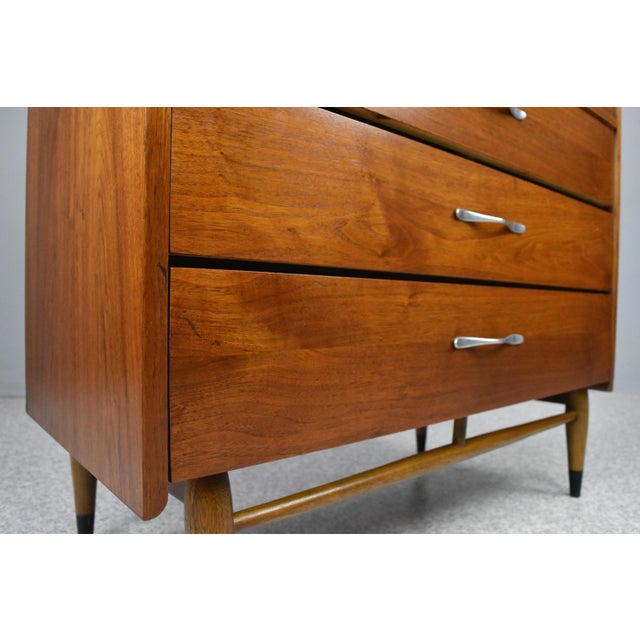 Brown Mid-Century Modern Highboy Chest by Lane Acclaim For Sale - Image 8 of 13